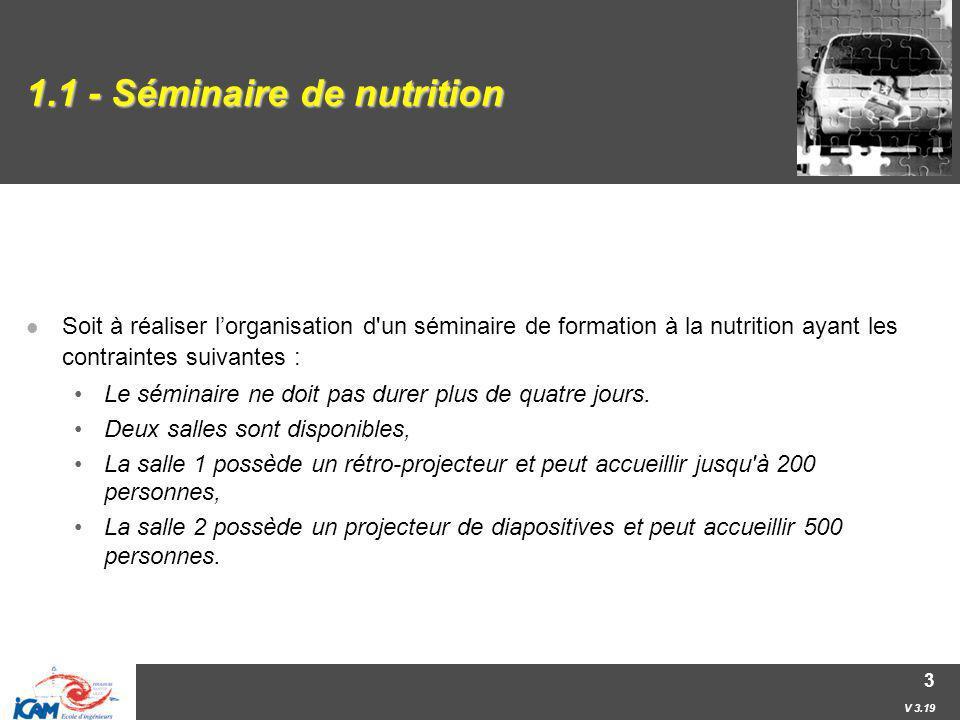 1.1 - Séminaire de nutrition