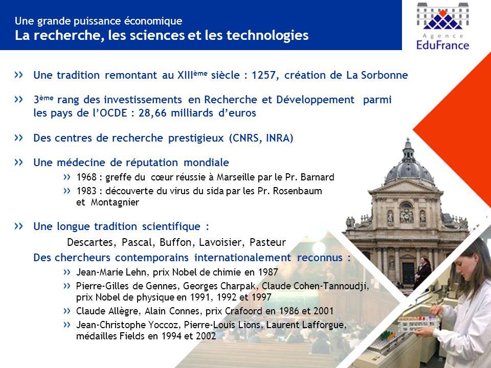 Des centres de recherche prestigieux (CNRS, INRA)
