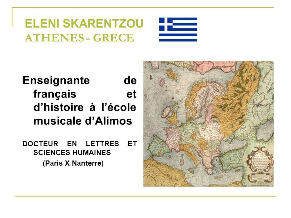 ELENI SKARENTZOU ATHENES - GRECE
