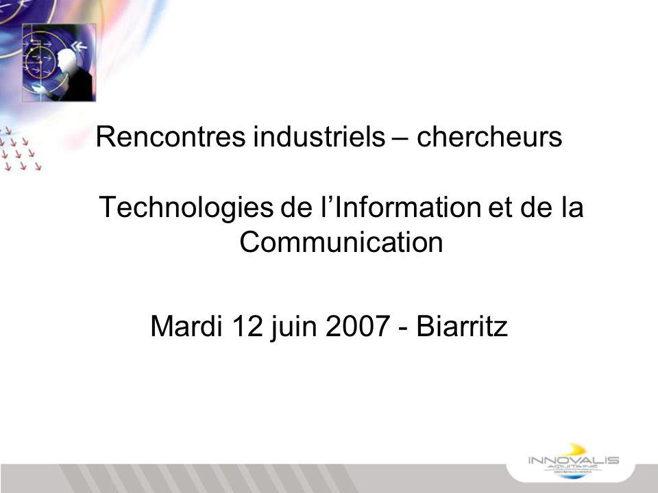 Rencontres industriels – chercheurs Technologies de l'Information et de la Communication