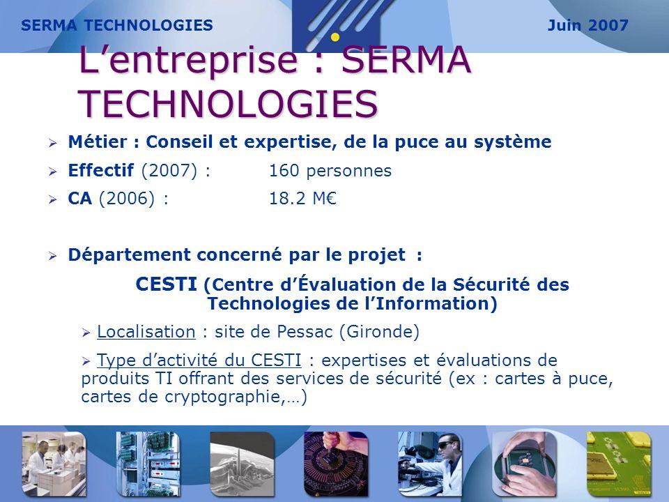 L'entreprise : SERMA TECHNOLOGIES