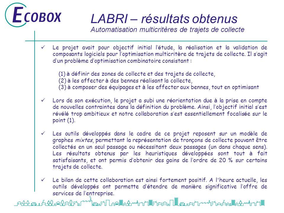 LABRI – résultats obtenus