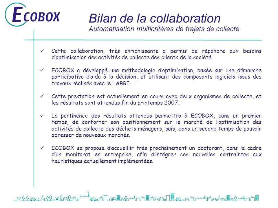 Bilan de la collaboration