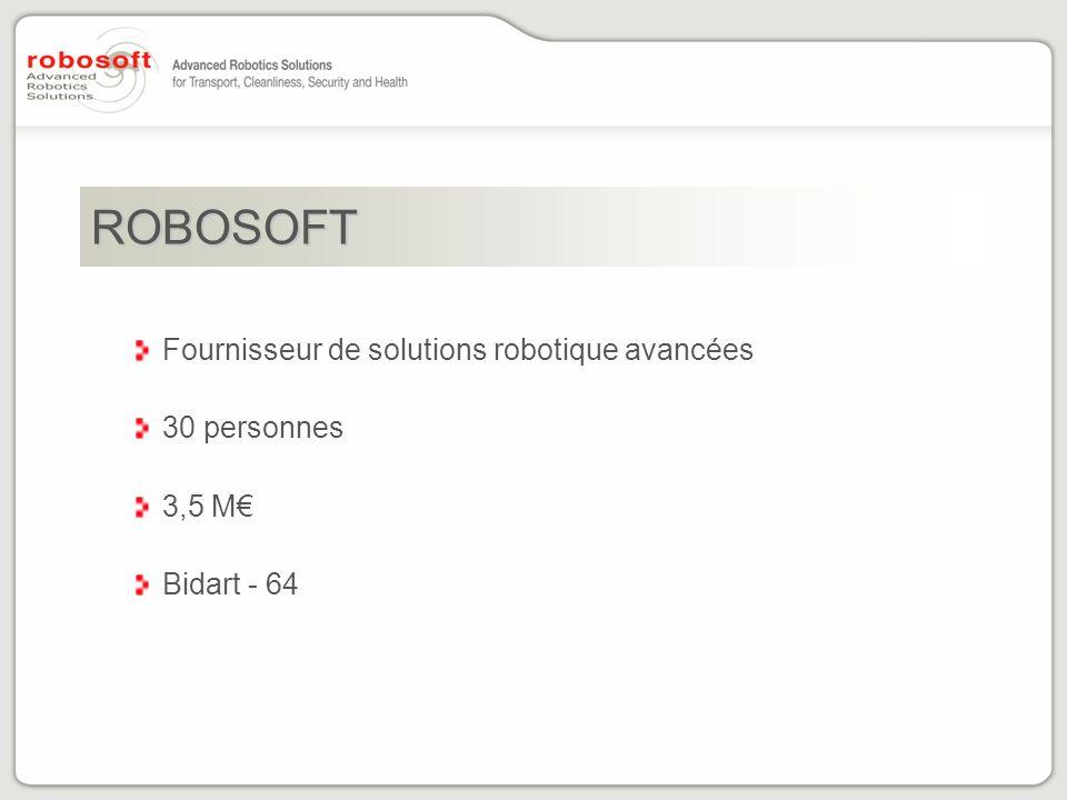 ROBOSOFT Fournisseur de solutions robotique avancées 30 personnes