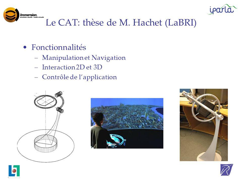 Le CAT: thèse de M. Hachet (LaBRI)