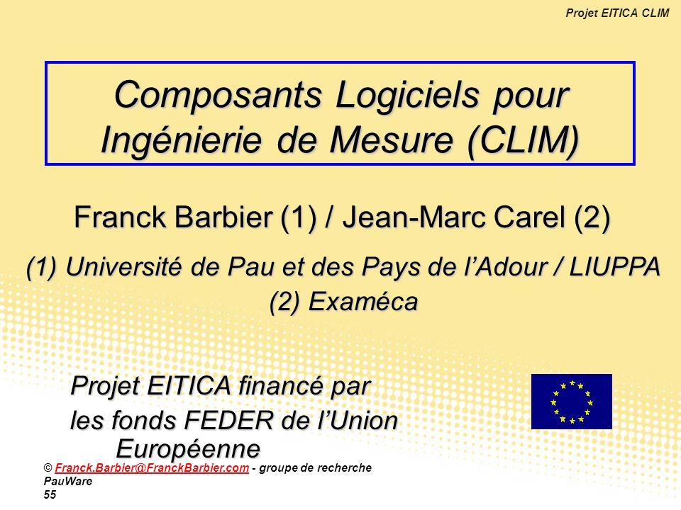 Composants Logiciels pour Ingénierie de Mesure (CLIM)