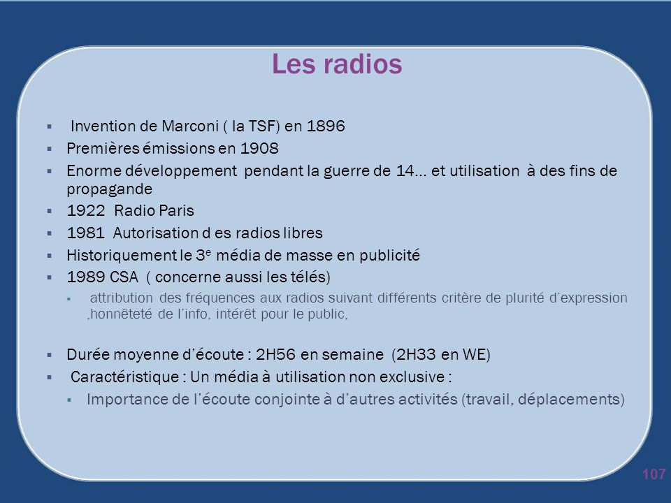 Les radios Invention de Marconi ( la TSF) en 1896