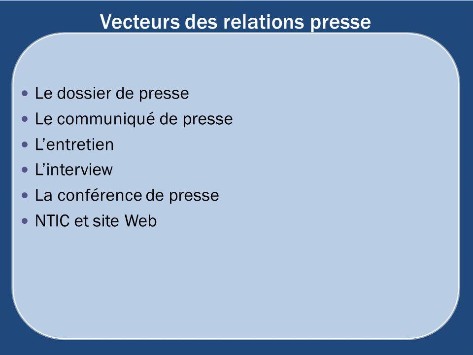 Vecteurs des relations presse