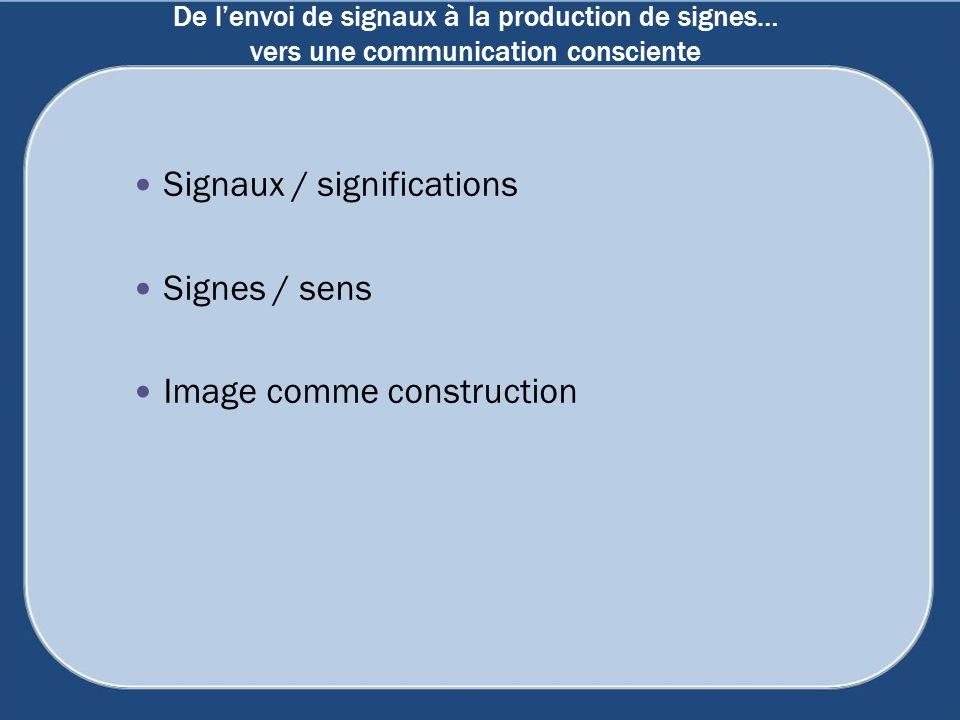 De l'envoi de signaux à la production de signes… vers une communication consciente
