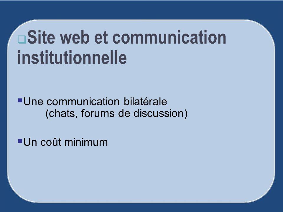 Site web et communication institutionnelle