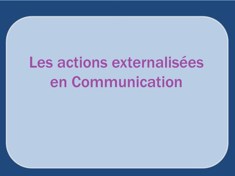 Les actions externalisées en Communication