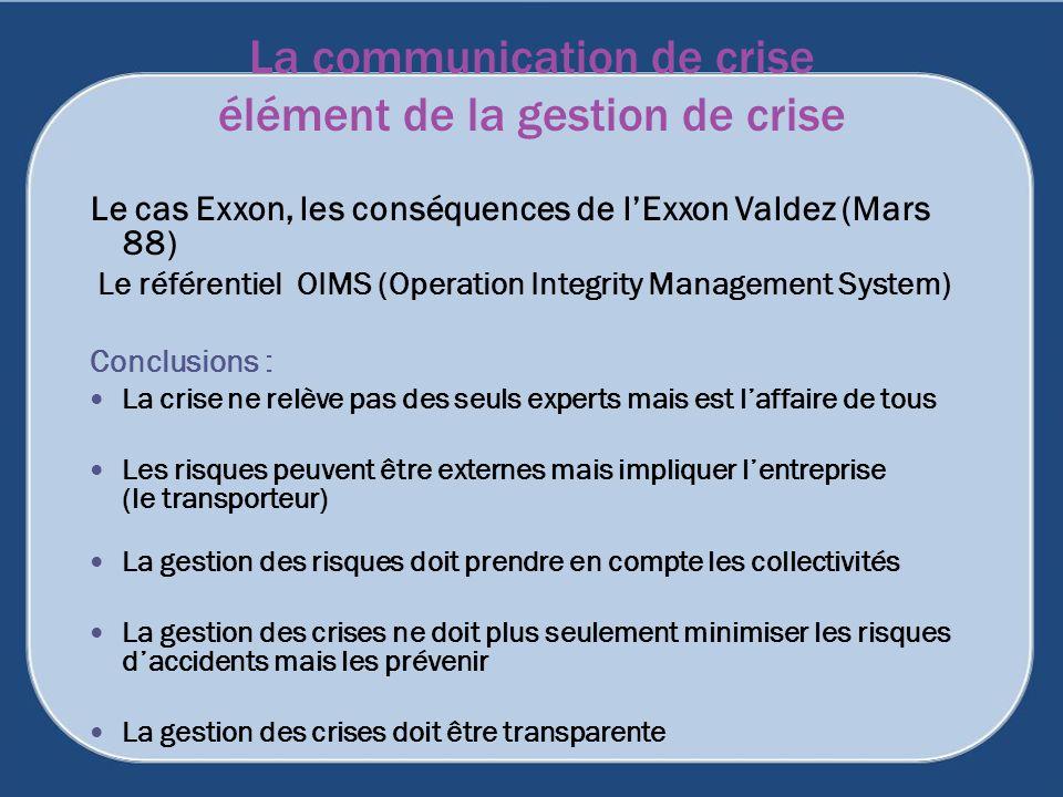 La communication de crise élément de la gestion de crise