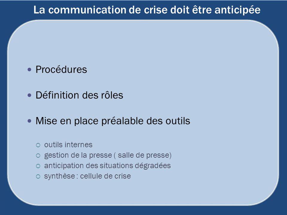 La communication de crise doit être anticipée