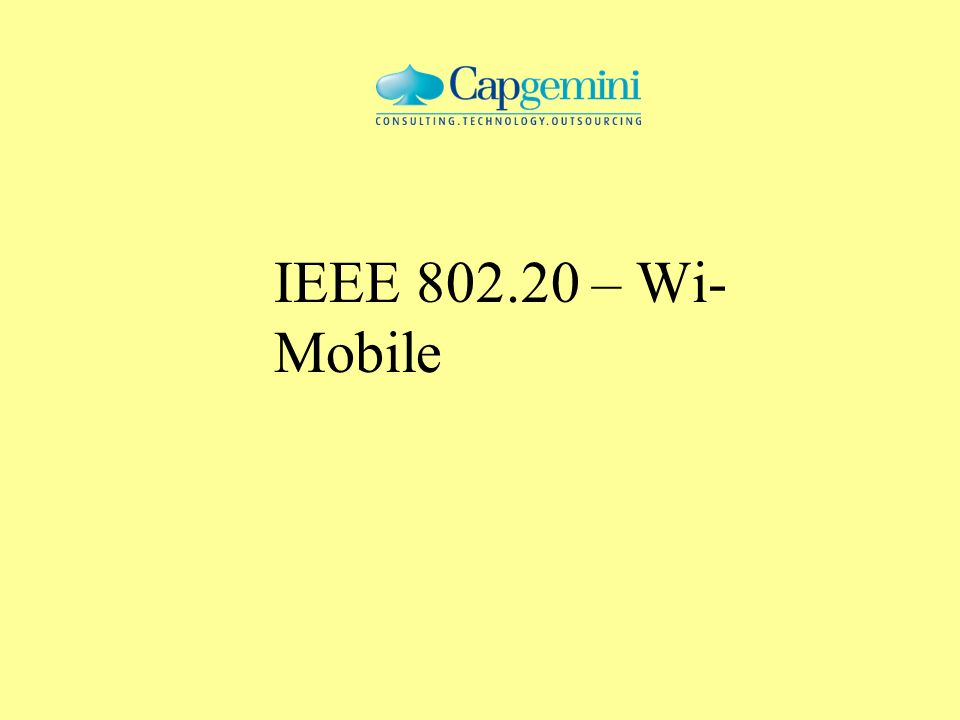 IEEE 802.20 – Wi-Mobile