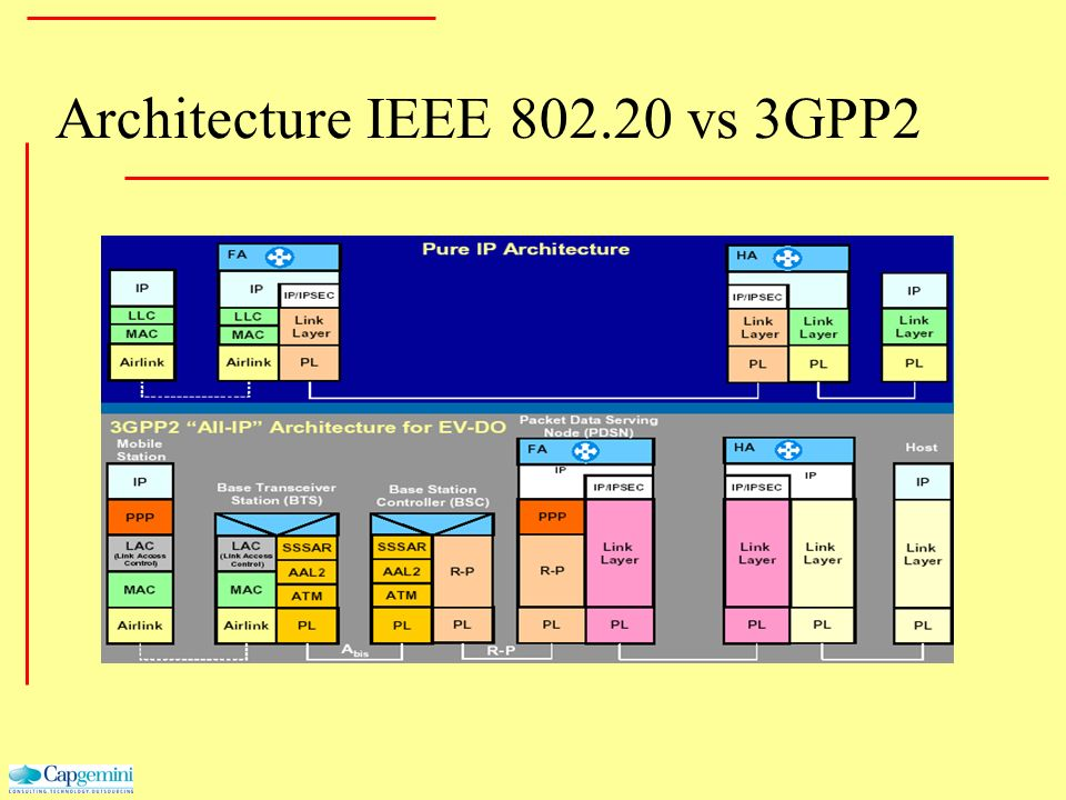 Architecture IEEE 802.20 vs 3GPP2