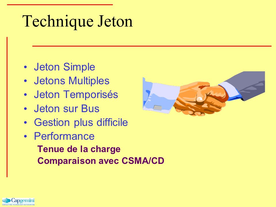 Technique Jeton Jeton Simple Jetons Multiples Jeton Temporisés