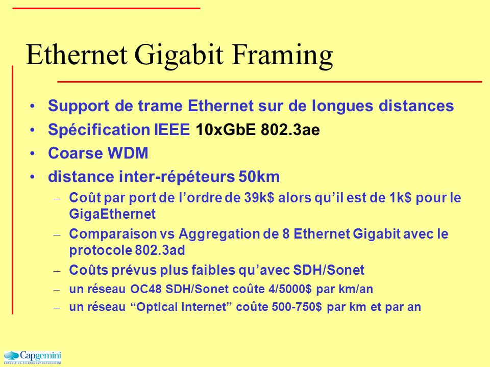 Ethernet Gigabit Framing