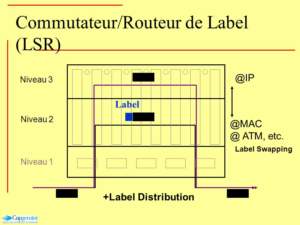 Commutateur/Routeur de Label (LSR)