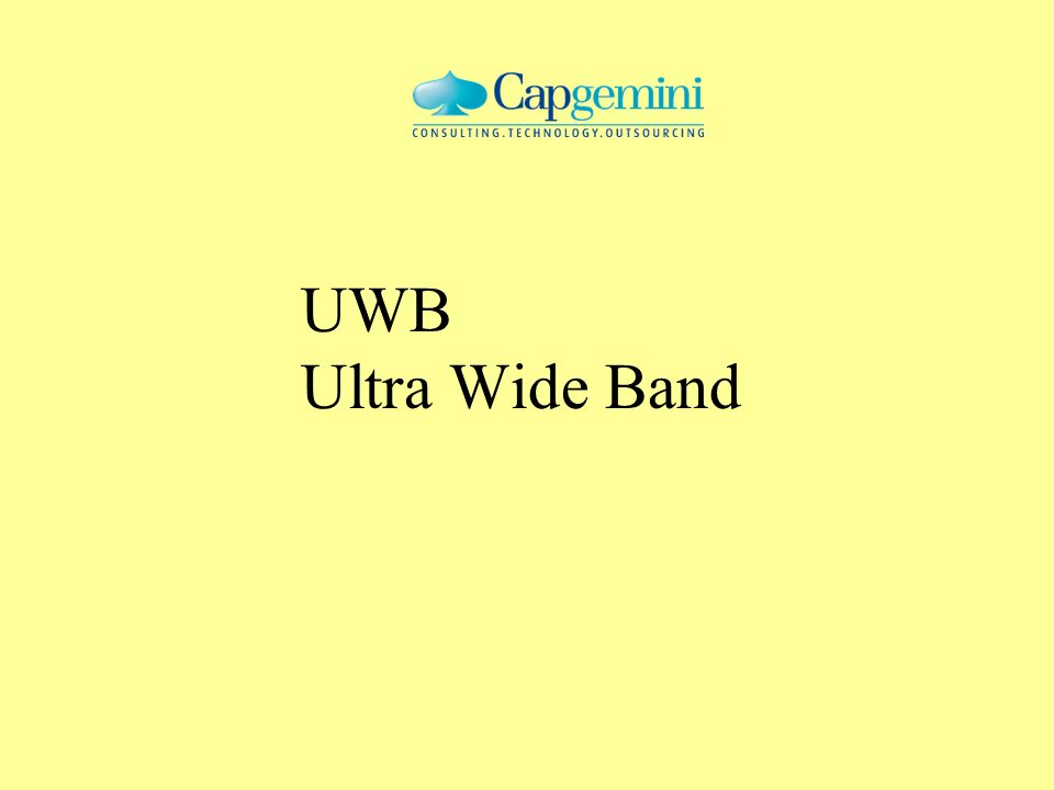 UWB Ultra Wide Band