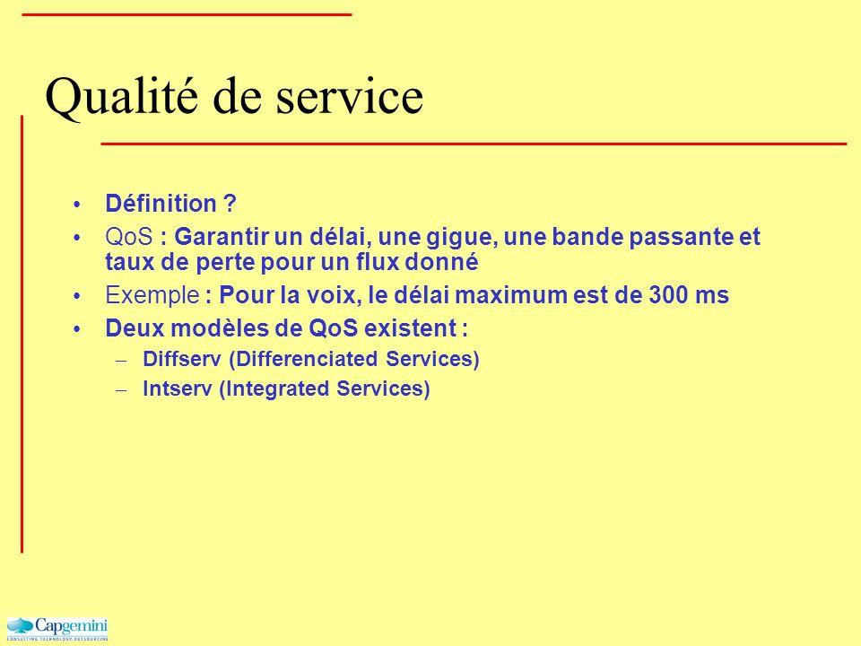 Qualité de service Définition
