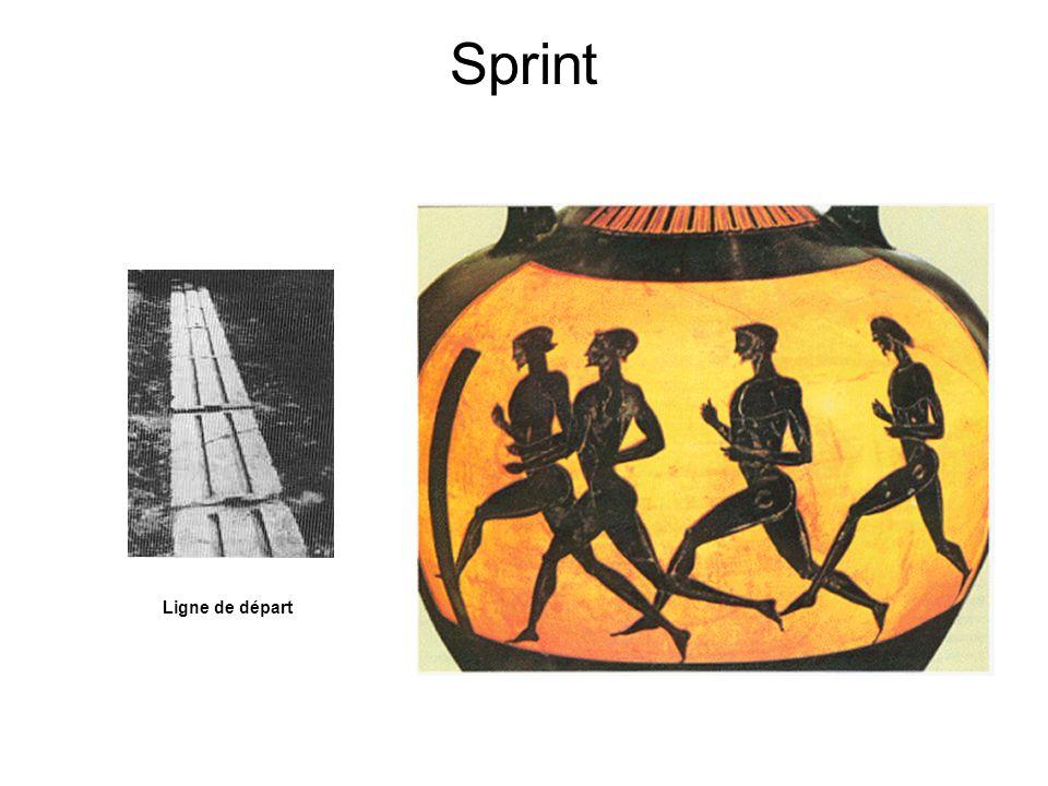 Sprint La quatrième était une petite course de la longueur du stade, principale épreuve du groupe.