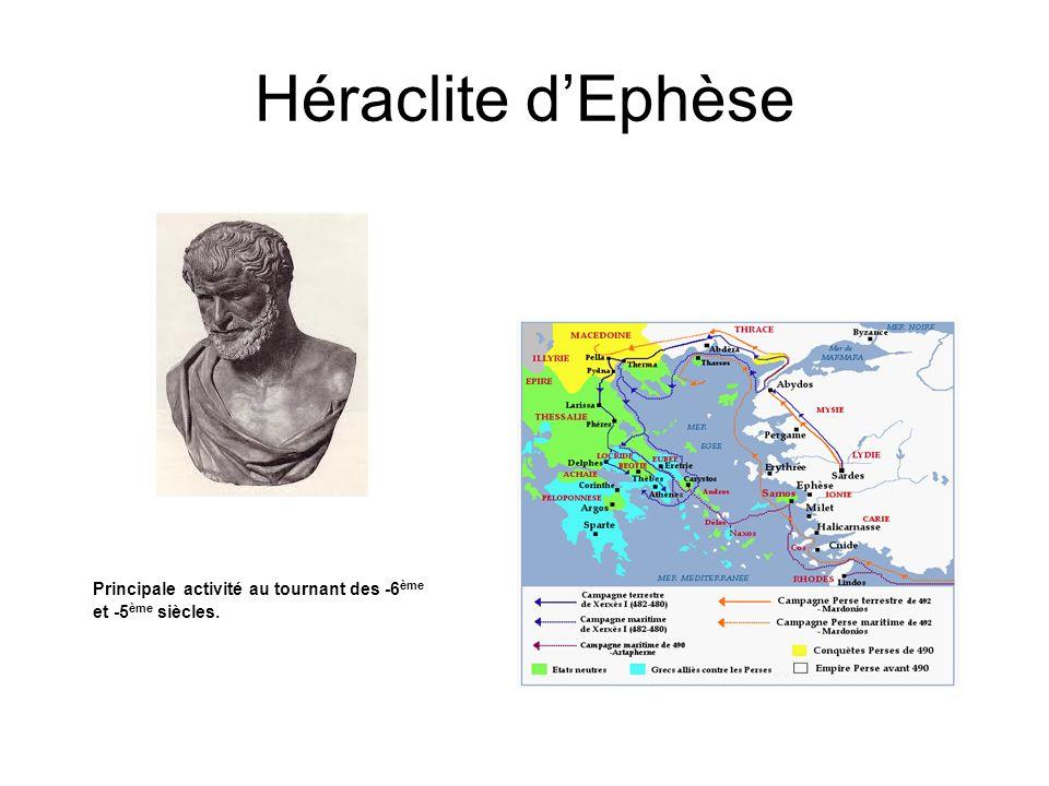 Héraclite d'Ephèse Héraclite