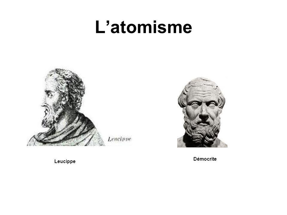 L'atomisme Démocrite Leucippe