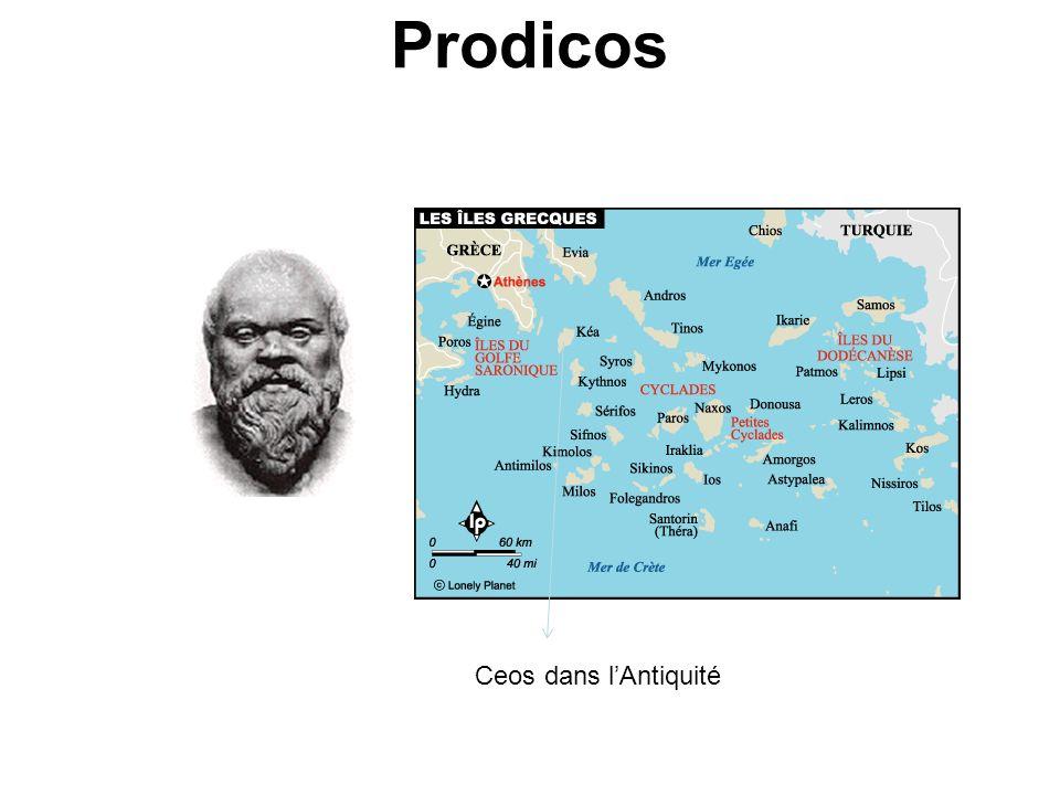 Prodicos Ceos dans l'Antiquité