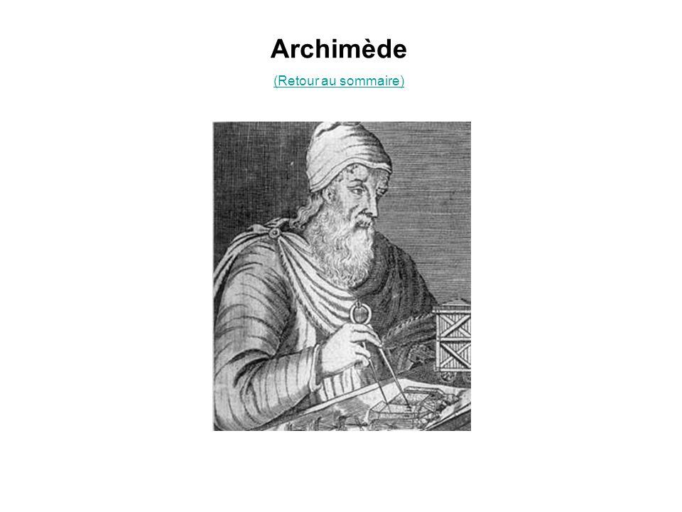 Archimède (Retour au sommaire)