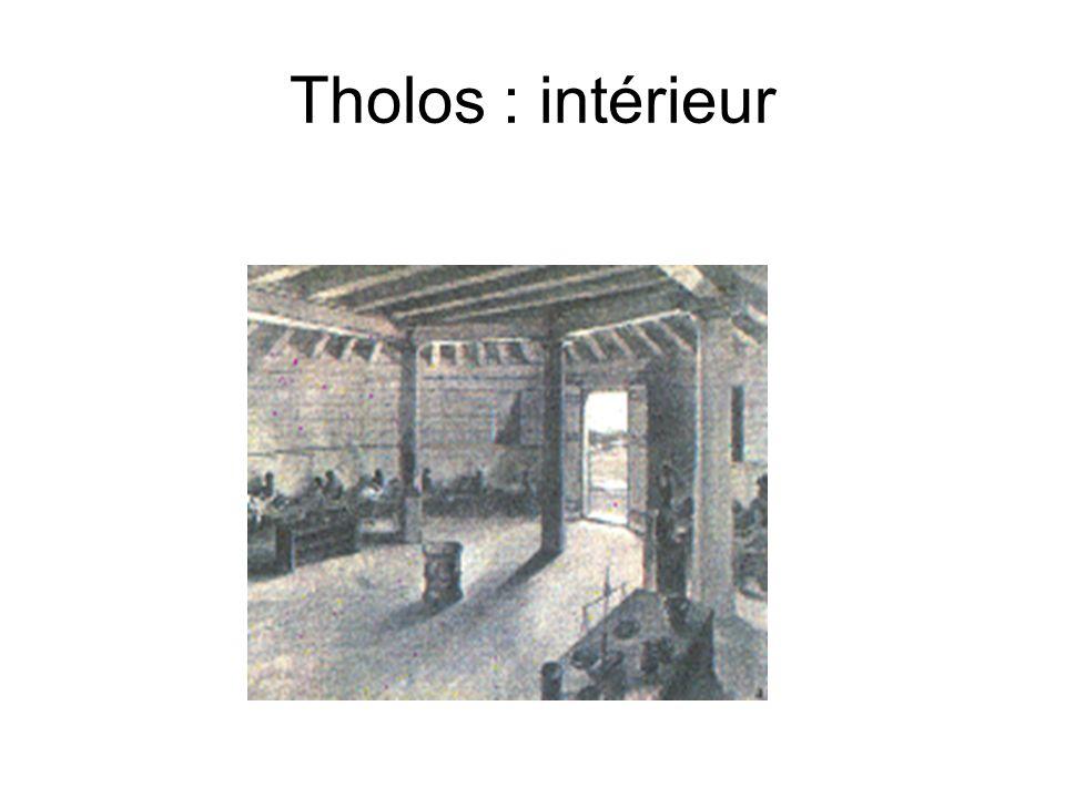 Tholos : intérieur