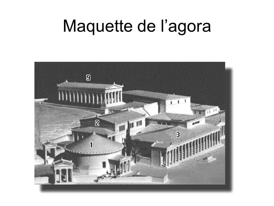 Maquette de l'agora La Tholos. Le Bouleuterion.