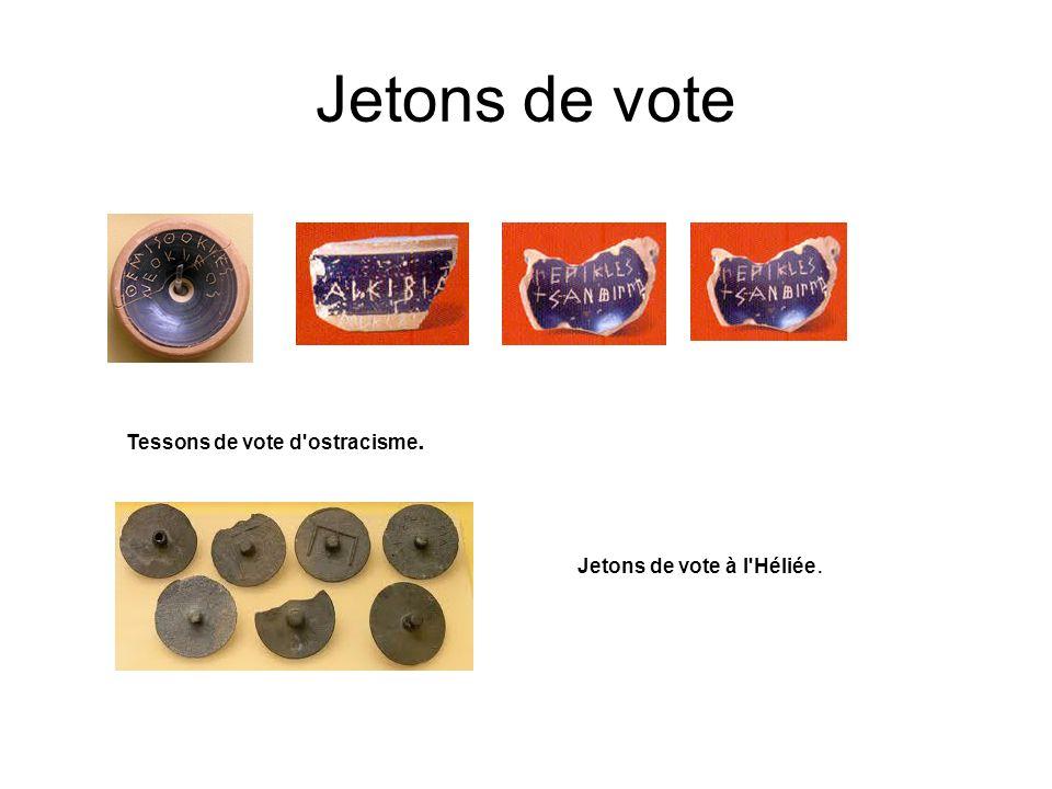 Jetons de vote Tessons de vote d ostracisme.