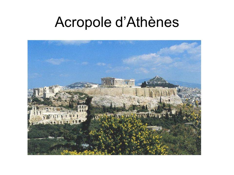 Acropole d'Athènes Mythologie.