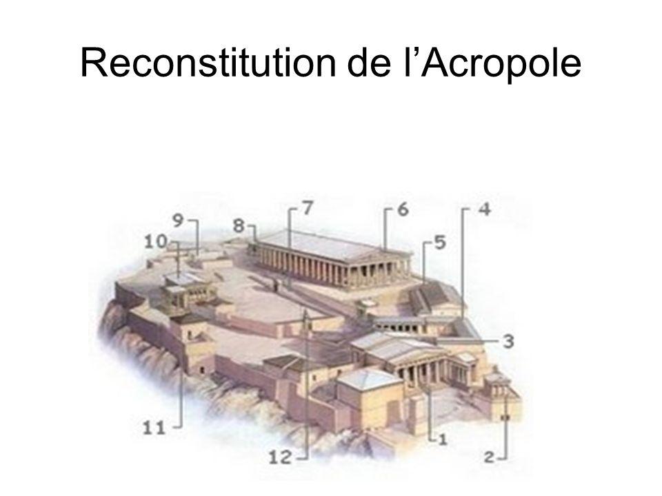 Reconstitution de l'Acropole