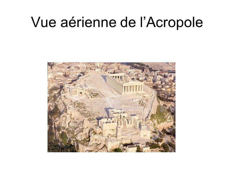 Vue aérienne de l'Acropole