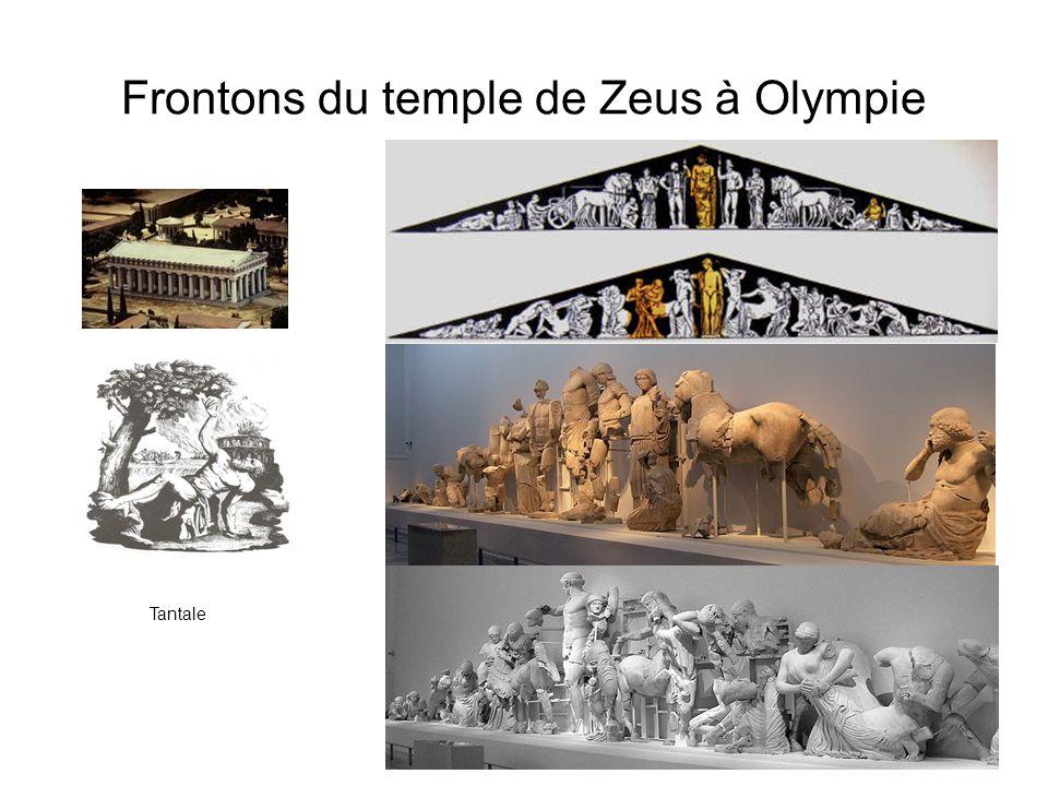 Frontons du temple de Zeus à Olympie