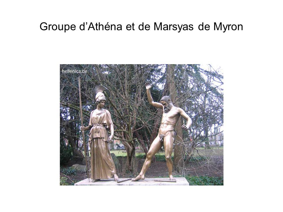 Groupe d'Athéna et de Marsyas de Myron