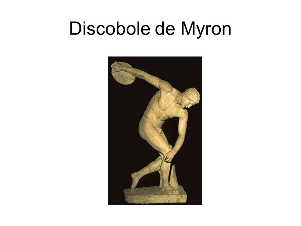 Discobole de Myron Copie d'une oeuvre attribuée à Myron, marbre, 155 cm, vers 460 av. J.-C.