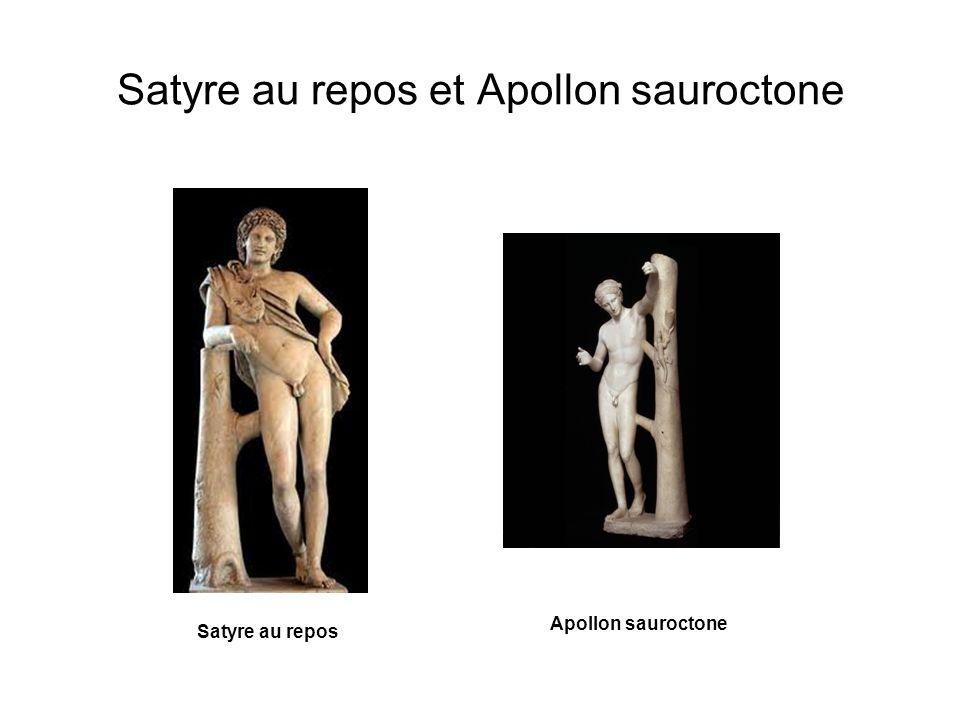 Satyre au repos et Apollon sauroctone