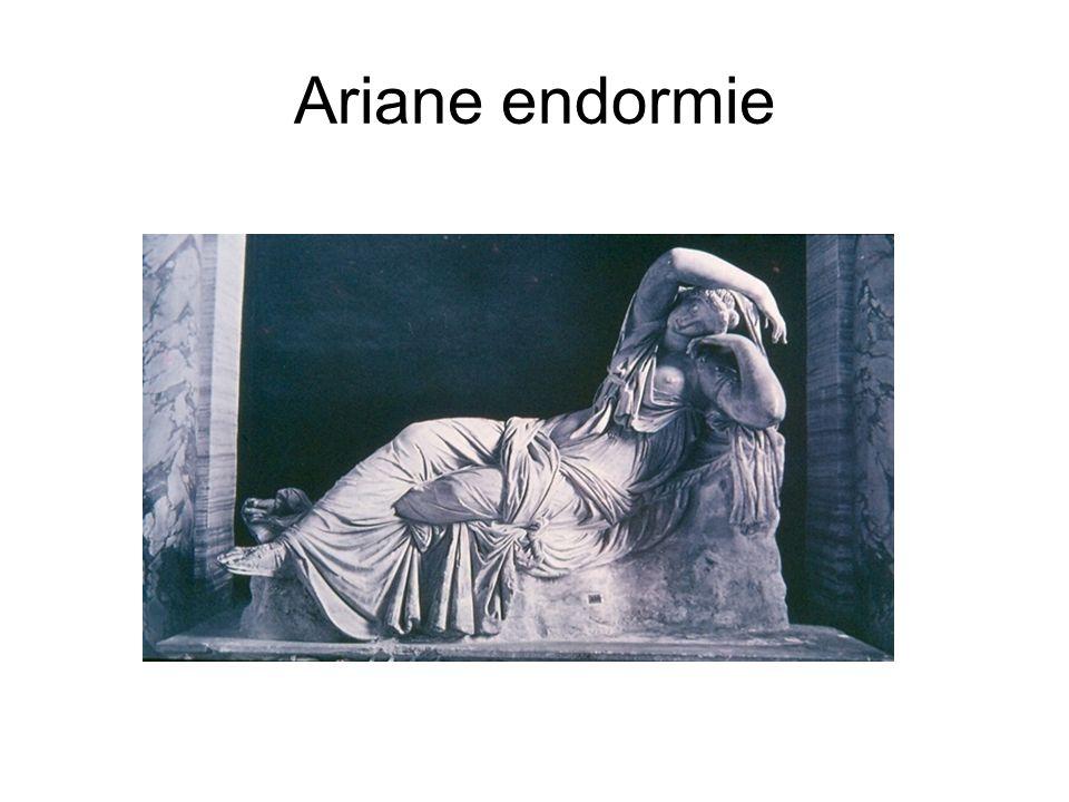 Ariane endormie Copie romaine du IIe siècle après J.-C., d après un original hellénistique du IIIe siècle (Pergame ou Rhodes).