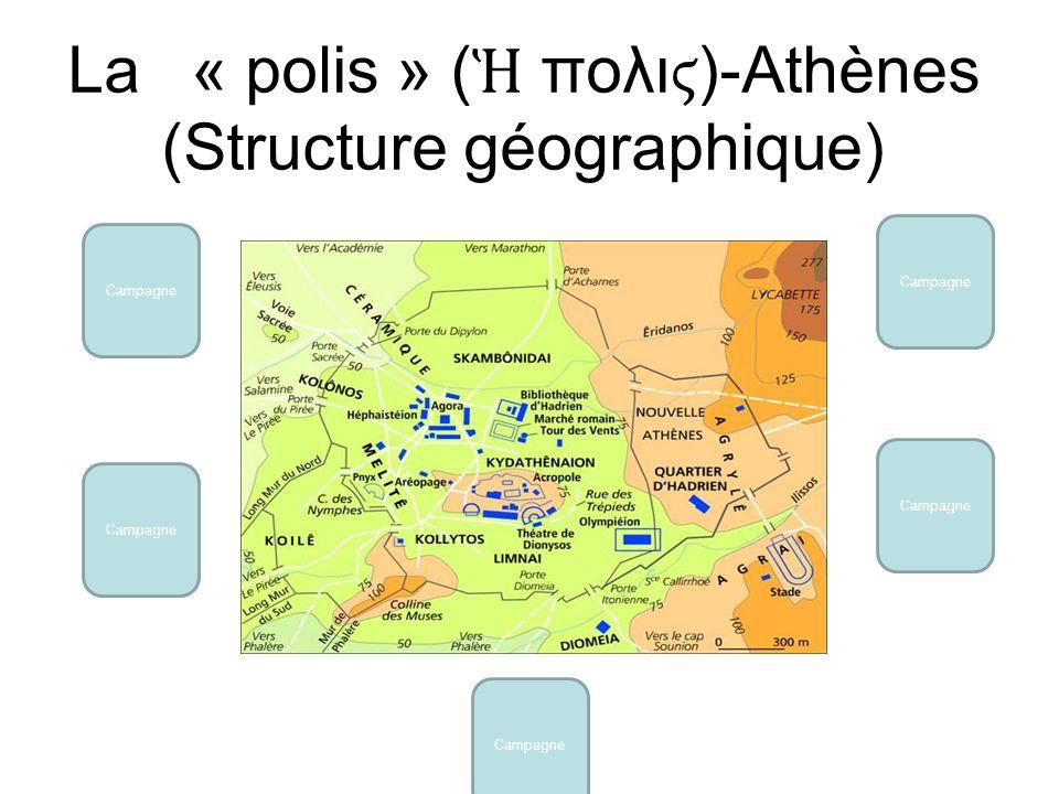 La « polis » (Ἡ πολιϛ)-Athènes (Structure géographique)