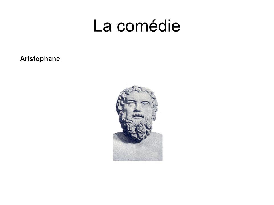 La comédie Aristophane Né vers -445 et mort après -388.
