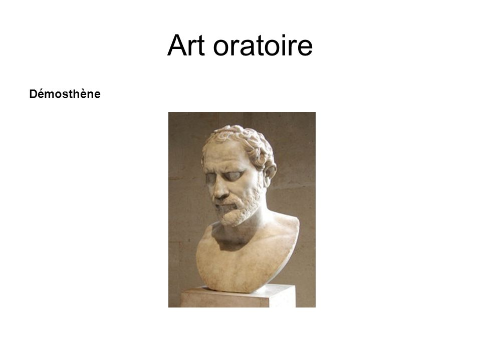 Art oratoire Démosthène