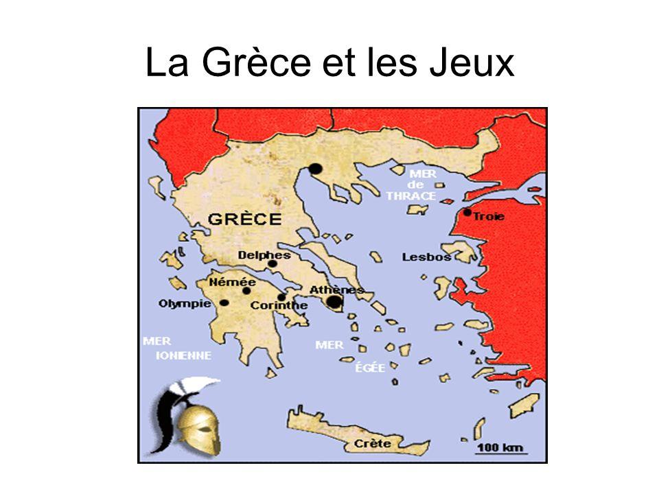 La Grèce et les Jeux Les Grecs étaient férus de sport :