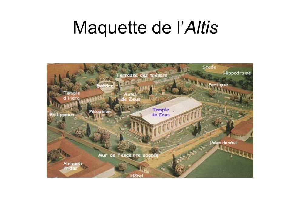 Maquette de l'Altis Palais du sénat Ateliers de Phidias