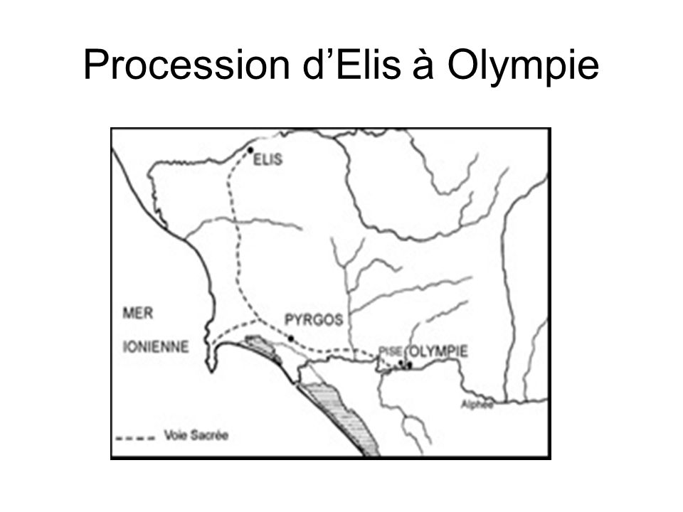 Procession d'Elis à Olympie