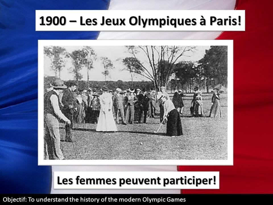 1900 – Les Jeux Olympiques à Paris!