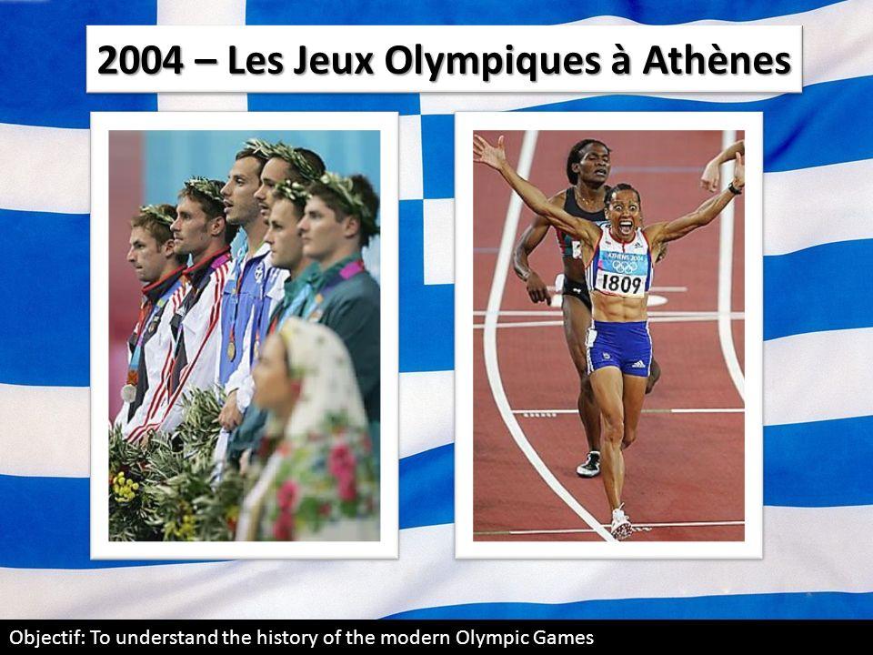 2004 – Les Jeux Olympiques à Athènes