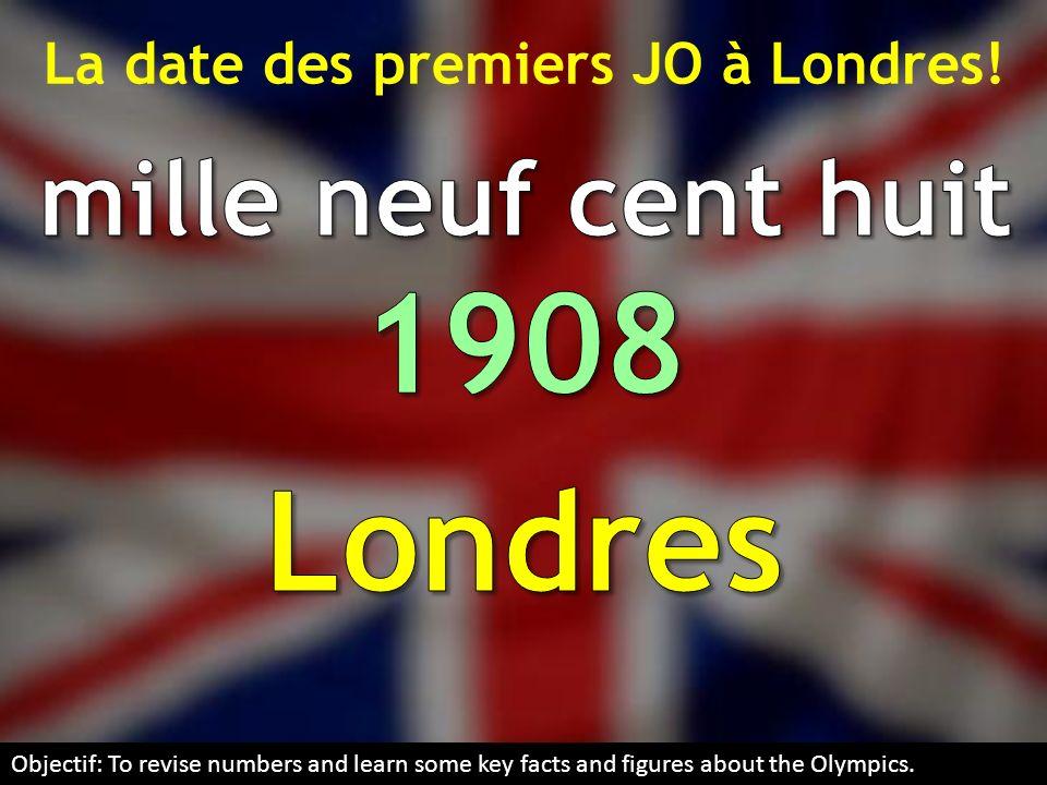 La date des premiers JO à Londres!