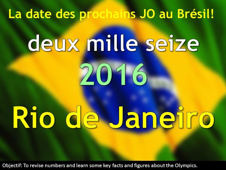 La date des prochains JO au Brésil!